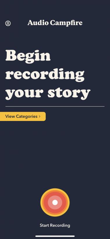 Screenshot of the Audio Campfire app. Screen reads